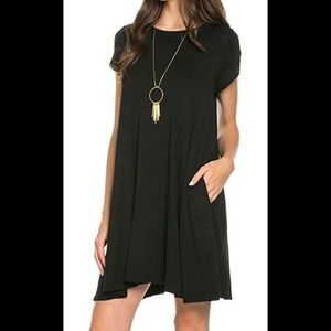 Mittoshop black shift dress